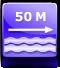 50 méterre a strandtól