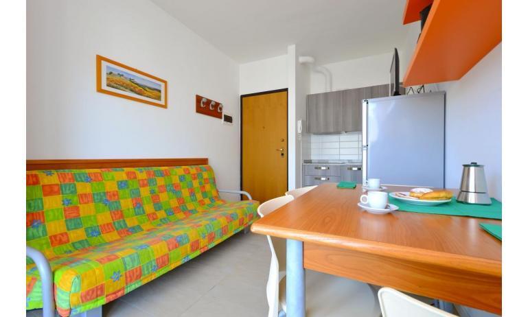 appartamenti VERDE: B3 - divano letto singolo (esempio)